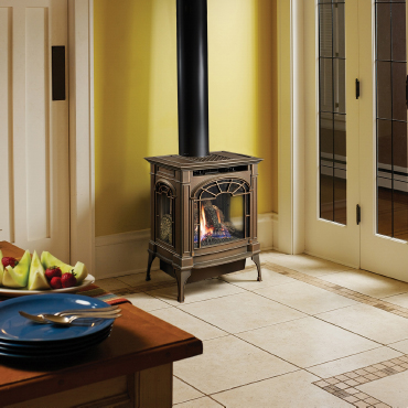 Lopi Northfield Gas Stove in Bronze Patina
