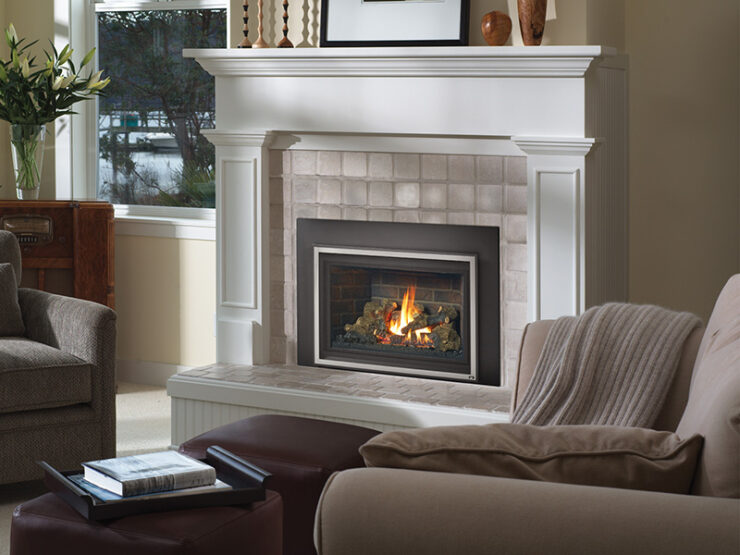 This model has a generous ceramic glass viewing area while featuring our award-winning Ember-Fyre® Burner and high definition detailed log set. The 34 DVL is a Deluxe model that features the GreenSmart® Remote Control, adjustable rear and top Accent Lights, and a 180 CFM convection fan