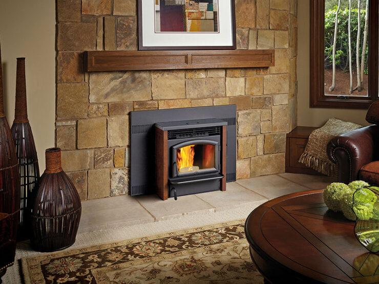 The AGP insert employs the same innovative technology as the AGP freestanding stove, but is ideal for converting an inefficient, open fireplace into a beautiful source of heat for your home. This environmentally sound way to heat your home produces less than one gram of emissions per hour and burns ALL GRADES of wood pellets that are made from all-natural wood by-products.