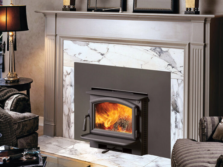 The Answer NexGen-Fyre™ is an excellent heat source for individual rooms or small homes. It conserves space by mounting almost flush to your existing masonry or zero clearance fireplace. This insert has a huge viewing area and sleek door design, along with a 1.5 cubic foot firebox that holds up to 18-inch logs. The Answer NexGen-Fyre™ offers advanced features like a five-sided convection chamber to evenly distribute warm air, and a single air control for easy regulation of burns and heat output.