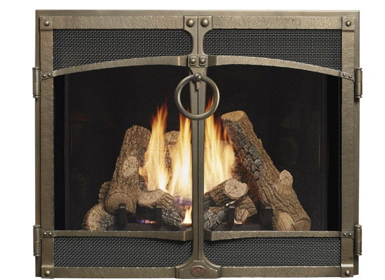 """The grandest of our premium fireplaces, the 4237 Top Vent (TV) Deluxe is a massive showstopper that is perfect for great rooms with its 42"""" wide by 37"""" high (1,554 square inches) glass and generous heat output. The magic of the 4237 TV lies within its ability to express the appeal of an open masonry fireplace while embodying the performance and functionality of today's superior gas heating technology."""