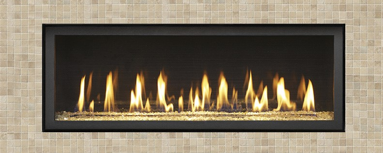 """The 4415 High Output (HO) brings you the best of home heating and style with its sleek, linear profile and impressive heat output. This model features 42,000 BTUs and is perfect for providing year round heat to living spaces up to 2,100 square feet. This """"clean face"""" fireplace offers your choice of elegant trims and beautiful finishing options to complement your home's décor."""