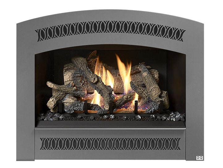 The shallow firebox design of the 564 TRV 25K takes up less space in your home, which makes installing this fireplace simple. This allows you the flexibility of adding fire to almost any room in your home. This top or rear vent (TRV) 25,000 BTU fireplace features our beautiful designer faces.