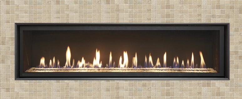 """As the largest model in our High Output Linear lineup, the 6015 HO is an excellent home heater and statement piece for great rooms and grand spaces. This model brings the heat with an impressive 56,000 BTUs and 2,800 square foot heating capacity. This """"clean face"""" fireplace offers you the choice of elegant, decorative trims and optional Fyre-Art™."""