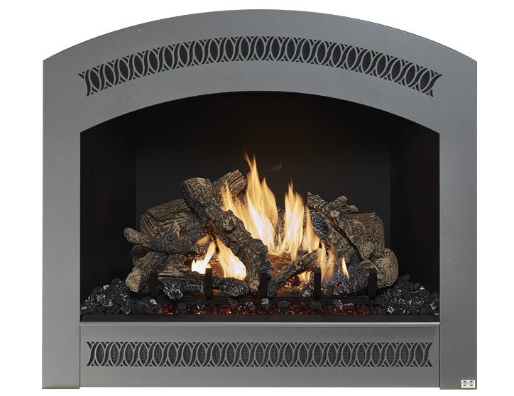The 864 TRV 31,000 BTU fireplace is perfect for anyone looking to display a big beautiful fire that provides supplemental year-round heat to spaces up to 1,400 square feet. This top or rear vent (TRV) fireplace features our selection of beautiful designer faces and includes new Ember-Glo™ ember bed lighting, adjustable overhead Accent Lights, the CoolSmart TV Wall™ option and your choice of stunning 10-piece Classic Oak or Birch log sets.