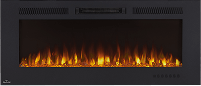 Effortlessly heat large spaces with Napoleon's Allure™ Phantom 60 Electric fireplace. Simply hang this fireplace, like a piece of art, using the integrated bracket, plug it in, and you are ready to use it. The slim depth won't intrude into the space. The Allure™ Phantom can be fully recessed for a more seamless look.