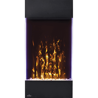 Create a stunning focal point with the Allure Vertical Electric Fireplace. Available in two sizes, these fireplaces are perfect when luxury is a must, but space is at a premium. The vertical design hosts a collection of features including an LED ember bed, flames, and side accent lights with more than 6 color options. Operable with or without heat, this vertical fireplace allows you to enjoy it all year round, no matter the season.